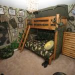 Интерьер детской комнаты 12 кв м в военном стиле