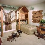 Интерьер дома детской комнаты на дереве