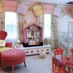Интерьер дома детской комнаты в стиле Барби