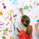 Интерьер обоев детской комнаты с развивающим эффектом
