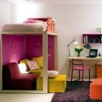 Яркий интерьер детской комнаты маленьких размеров