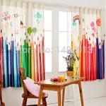 Короткие шторы в детскую комнату фото