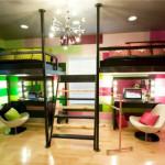 Оригинальный дизайн детской комнаты для разнополых детей