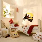 Светлый интерьер детской комнаты 10 кв м для дошкольника