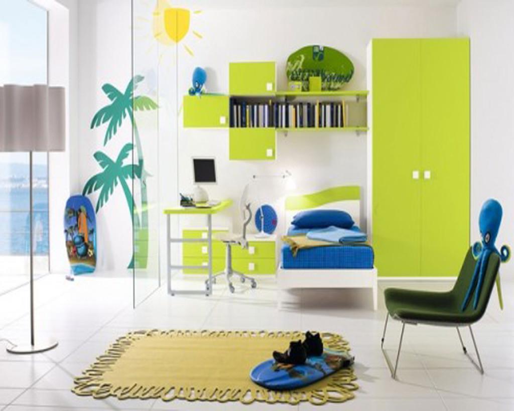 Туристический интерьер детской комнаты для мальчика 10 лет