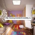 Современный дизайн детской комнаты для разнополых детей