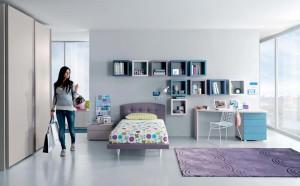 дизайн интерьера маленькой детской комнаты для девочки подростка