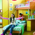 Компактный интерьер детской комнаты для разнополых детей