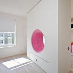 интерьер детской комнаты для разнополых детей в прямоугольной комнате