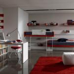 Детские комнаты для двух мальчиков фото дизайн красного цвета