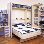 Фиолетовая модульная мебель для детской комнаты для мальчика