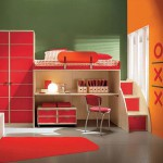 Купить мебель для детской комнаты для мальчика красного тона