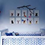 Мебель для детской комнаты для мальчиков голубого оттенка