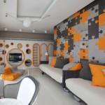 Многоцветный дизайн детской комнаты для двух мальчиков