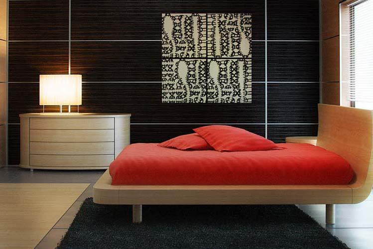 Декоративные стеновые панели для внутренней отделки фото в спальне.