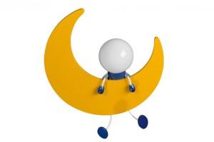 Луна - детский настенный светильник