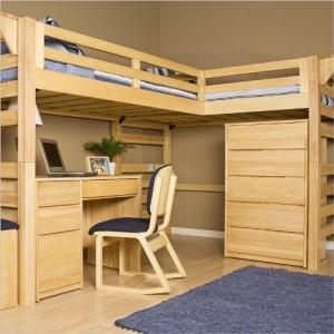 Комплексная детская деревянная мебель