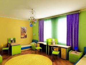 Цвет стен в детской и его комбинация