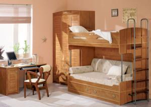 Детская деревянная мебель два в одном