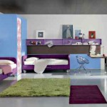 Лиловая мебель для детской комнаты для девочки подростка