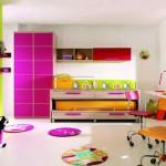 Цветная мебель для детской комнаты для девочки подростка