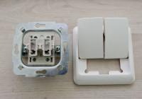 Схема подключения двухклавишного выключателя на две лампочки в большом помещении