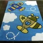 Детские ковры в комнату для мальчиков с самалетами