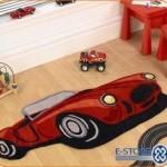 Детские ковры в комнату для мальчиков в форме машинки