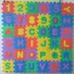 Детский ковер пазл с английскими буквами