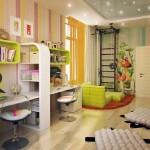 Идеальное зонирование детской комнаты для девочки