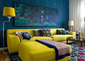 Как сочетать цвета в интерьере желтого и бирюзового