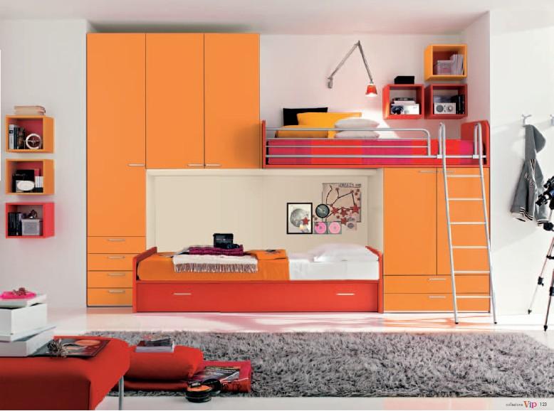Контрастная планировка детской комнаты для двоих детей фото эскизы в журнале