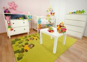 Контрастные натуральные детские ковры для девочек фото