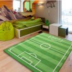 Ковры для детской комнаты фото в виде футбольного поля