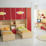 Красная детская комната фото и варианты планировки