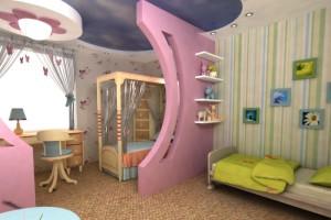 Настойчивые обои для детской комнаты разнополых детей