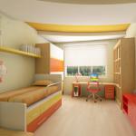 Планировка детской комнаты 9 кв м с элементами гипсокартона