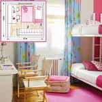 Планировка детской комнаты для девочки с особым уютом
