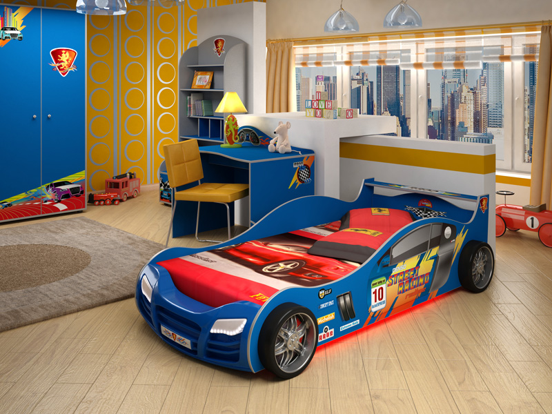 Подсветка детской кроватки для мальчика