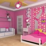 Потолок из гипсокартона в детскую комнату фото девочкам