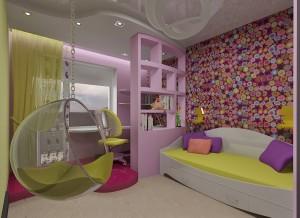 Просторная комната и ее зонирование детской комнаты для мальчика и девочки