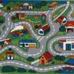 Развивающий детский ковер с дорогами фото-рисунки