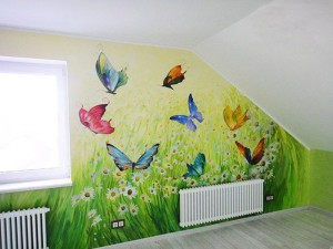 Роспись стен в детской комнате фото для маленьких