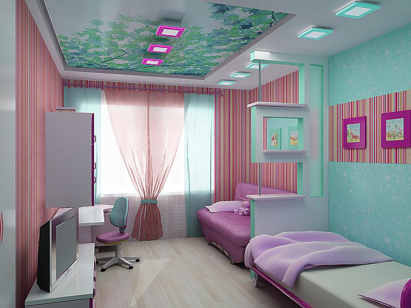 Стильная планировка детской комнаты для двоих детей фото завершающих штрихов.