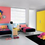 Яркие обои для детской комнаты разнополых детей