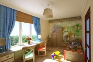 Зонирование детской комнаты для девочки с уклоном на простор