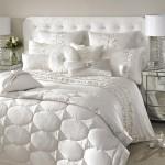 Белоснежные покрывала на кровать в спальню фото