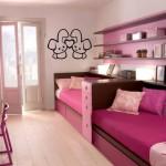 Детский диван кровать с бортиками для двоих девочек