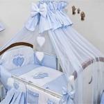 Голубой балдахин на детскую кроватку своими руками пошагово