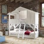 Красивая двухъярусная кровать своими руками из дерева фото